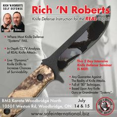 Seminar dates and more details to be announced soon for Summer So far Edinburgh, UK & Toronto, ON are on the list! Let us know if you might be interested in hosting this 2 Day Knife Instruction course in your city! Chris Roberts, The Real World, Self Defense, Toronto, Edinburgh Uk, Workshop, July 14, Let It Be, Teaching