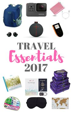 A list of travel items to use in 2017. A new year is ahead! 2017! Maybe you put travel more on your new year resolution list? If you did, great!  Here are some essential travel items for 2017. The best of the best!  These items will make your travels a lot easier, safer, comfortable, fun and more enjoyable!