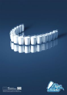 Milk does a body good – or in this ad's case: milk helps develop strong white teeth  | followpics.co