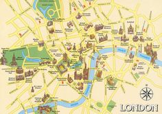 London Attractions Map - London Map London has a wide range of attractions and monuments. On this London Map you can notice most important places to visit, City Of London, London Map, London Street, London Hotels, Sightseeing London, Southwark Cathedral, London Tourist Guide, London Attractions, London Landmarks