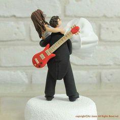 Topo de bolo casamento musica