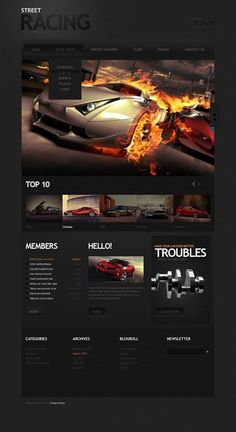 Wicked #BMW Racing Website Template, Check it Out! | Vehicles ...
