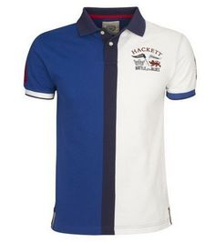 outlet ralph lauren Hackett London Half Split Polo Shirt Blue White http://www.poloshirtoutlet.us/