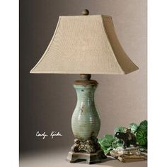 Unbeatable prices on Uttermost andelle light blue table lamps, industrial farmhouse decor and sofa tables. Shop Outrageous Interiors and buy classic bedroom furniture sets for your dream home. Blue Table Lamp, Metal Table Lamps, Ceramic Table Lamps, A Table, Earth Tone Decor, Farmhouse Table Lamps, Bright Homes, Bedroom Lamps, Bedroom Ideas