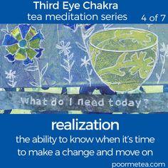 7 Days 7 Chakras Third Eye Chakra Tea Meditation, Realization