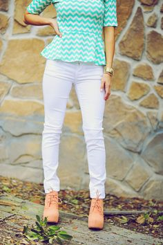 Girl White Pants