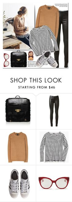 """""""casual time"""" by miss-sunshine-25 ❤ liked on Polyvore featuring Kurt Geiger, Yves Saint Laurent, Marc by Marc Jacobs, J.Crew, adidas Originals and Miu Miu"""