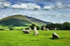 Castlerigg Stone Circle  Castlerigg is one of around 1,300 stone circles in the British Isles and Brittany. It was constructed as a part of a megalithic tradition that lasted from 3,300 to 900 BCE, during the Late Neolithic and Early Bronze Ages.  The circle is near Keswick in Cumbria, North West England.  by Beardy Vulcan
