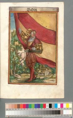 Colour Plate: German State Banners:  Margraviate of Baden