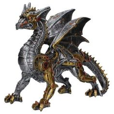 Picture of Dracus Machina Steampunk Dragon Large Figurine Steampunk, Mythical Dragons, Natural Christmas, Character Illustration, Deco, Gifts For Kids, Lion Sculpture, Metal Sculptures, Carnival