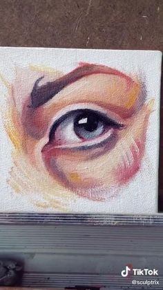 Acrylic Portrait Painting, Eye Painting, Portrait Art, Art Drawings Sketches Simple, Eye Art, Painting Techniques, Art Tutorials, Canvas Art, Small Bedrooms