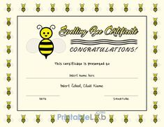 Editable Spelling Bee Certificate Template In Cream, Yellow pertaining to Spelling Bee Award Certificate Template - Best & Professional Templates Ideas Blank Certificate Template, Certificate Of Achievement Template, Birth Certificate Template, Printable Certificates, Award Certificates, Plastic Playing Cards, Teacher Certification, Spelling Bee, Graphic Design Templates