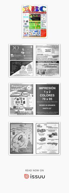 Revista ABC de Artes Gráficas México Abril 2018  Revista especializada en Artes Gráficas, Publicidad, Offset, Artículos Promocionales, Impresión en Gran Formato, Tintas, Preprensa, Maquinaria para las Artes Gráficas etc.