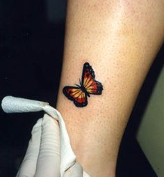 Have always liked butterfly tattoos but this one is almost perfect. Not over the top cute.