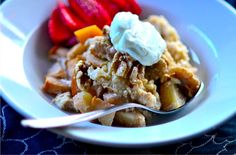 Slow Cooker No-Peel Apples and Steel-Cut Oats Recipe | reluctantentertainer.com Reluctant Entertainer I Sandy Coughlin - Lifestyle, Entertaining, Food, Recipes, Hospitality and Gardening