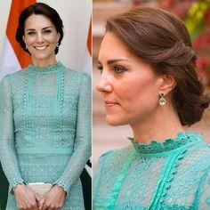 ケンブリッジ公爵夫人キャサリン、首相とのランチでは上品かつ清潔感のあるアップヘア。