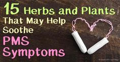 These 15 herbal remedies may help soothe painful menstrual cramps or other symptoms of premenstrual symptoms naturally. http://articles.mercola.com/sites/articles/archive/2016/02/08/premenstrual-syndrome-herbal-remedies.aspx