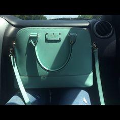 Sea foam Kate spade purse Seafoam green blue purse never been used kate spade Bags