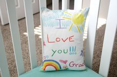 Personalized Custom Printed Kids Artwork 12 x 16 Pillow Cover By Wendy   Your sweet childs favorite artwork is no longer just for the fridge!