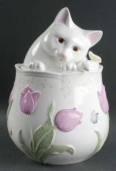 Figurine Cookie Jar & Lid in the Butterfly Meadow pattern by Lenox China HINT HINT TO MY FAMILY