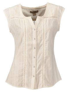 Buy the Natural Reflections Embroidered Eyelet Woven Top for Ladies and more quality Fishing, Hunting and Outdoor gear at Bass Pro Shops. Cool Outfits, Casual Outfits, Kurti Neck Designs, Indian Designer Wear, Modest Dresses, Sewing Clothes, Blouses For Women, Trendy Fashion, Cool Style