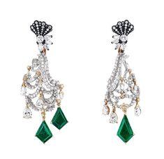 パンピーユ イヤリング(WG×PG×YG×シルバー×ダイヤモンド×エメラルド) 「Dior à Versailles」