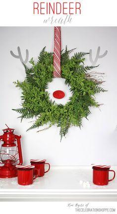 Reindeer Wreath amp Hot Cocoa Bar bull The Celebration Shoppe Christmas Cocktail, Christmas Love, All Things Christmas, Christmas Holidays, Christmas Wreaths, Christmas Decorations, Holiday Decorating, Happy Holidays, Christmas Ideas