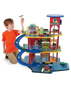 Take a look at this Deluxe Garage Set by KidKraft!  http://www.zulily.com/invite/Zulily20Store