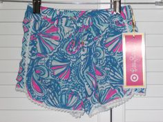 Lilly Pulitzer Target Shorts Child 3T Blue Pink White  #LillyPulitzer #Shorts #Everyday