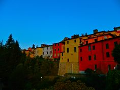 Barga, Italy colors