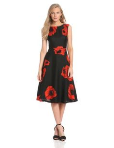 Tracy Reese Women%27s Embellished Flared Frock