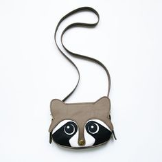 Original handmade Raccoon Leather Bag Raccoon Bag por LaLisette, $99.00