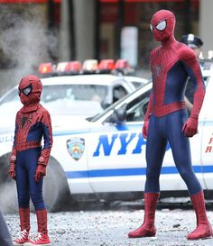 Andrew Garfield's looking a little little... oh wait. - 'The Amazing #SpiderMan 2'