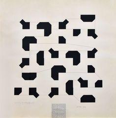 Bruno Munari, Una linea di collegamento (Studio percettivo sulla curva di Peano), 1974