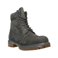 Timberland Men's 6 Inch Premium Classic Boots, Grey ($120) ❤ liked on Polyvore featuring men's fashion, men's shoes, men's boots, men's work boots, grey, mens fur lined boots, timberland mens work boots, mens waterproof work boots, mens rugged boots and timberland mens boots