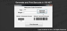 Generate and Print Barcode in VB.NET