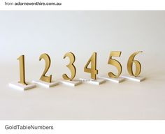 Adorn event hire table numbers