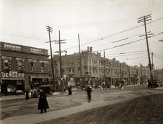 View looking south toward the intersection of Grand Avenue and Arsenal Street. (1915) Missouri History Museum