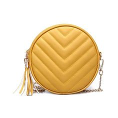 Yellow Cross body Tassel Canteen Bag (1,270 PHP) ❤ liked on Polyvore featuring bags, handbags, shoulder bags, tassel purse, yellow shoulder bag, yellow purse, yellow crossbody purse and cross body
