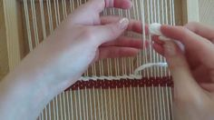 Loom weaving tutorial for beginners: The soumak technique