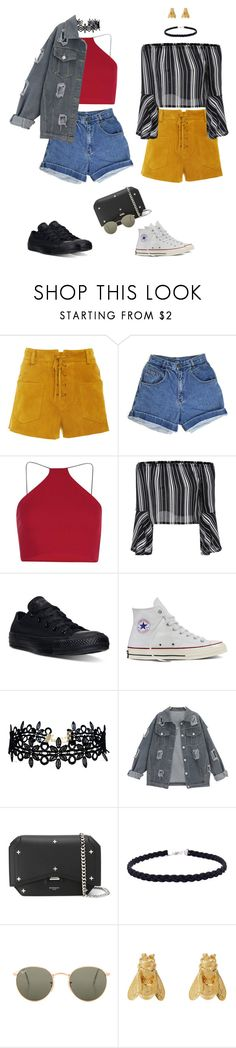 """Custom"" by audrey-balt ❤ liked on Polyvore featuring Tory Burch, Boohoo, Converse, LULUS, Givenchy, Ray-Ban and Alex Monroe"