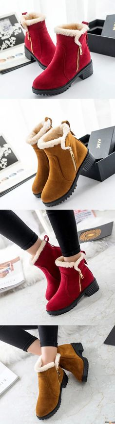 Women Winter Snow Boot Keep Warm Comfortable Outdoor Casual Ankle Short Boots. Boots you need for winter. Warm and Chic. Shop at banggood with super affordable price.