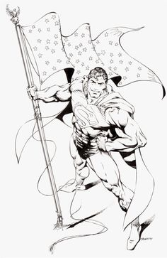 Bart Sears Wizard the Comics Magazine Superman Illustration Original Art
