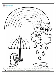 Rain gear coloring page Weather