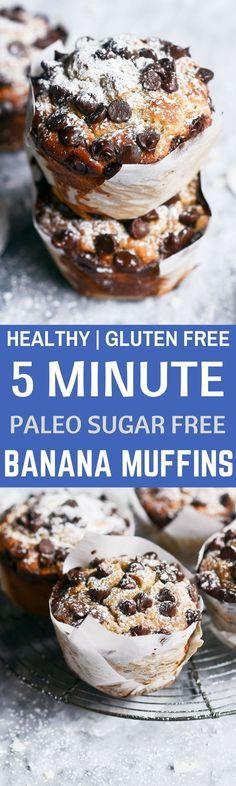 Healthy Gluten Free Banana muffins