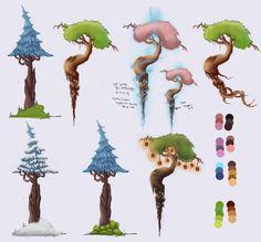 ArtStation - Stylised Tree, Hannah Brown