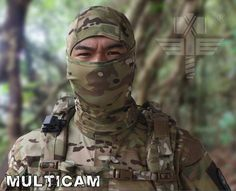 IDOgear Fast Dry Multi-functional Hood Mask Hunting Camouflage Breathable Chief Rattlesnake Full Face Cycling Multicam
