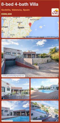 8-bed 4-bath Villa in Godella, Valencia, Spain ►€599,000 #PropertyForSaleInSpain