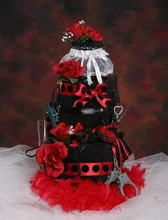 Bachelorette 'towel/gift' cake :)