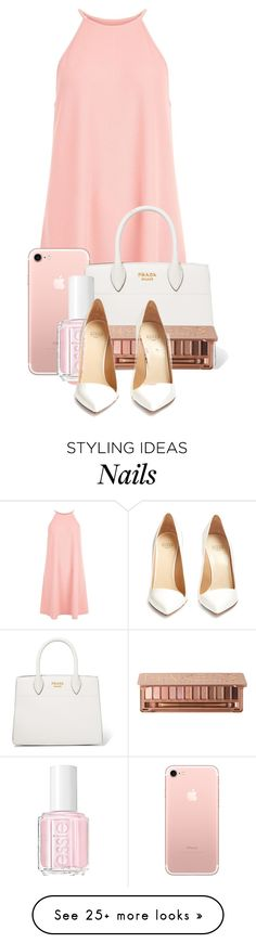 """""""Night out"""" by casualbandgirl on Polyvore featuring New Look, Prada, Essie, Urban Decay, Francesco Russo, Pink, NightOut, dream, popular and woman"""